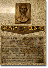 Cushing Bronze Plaque